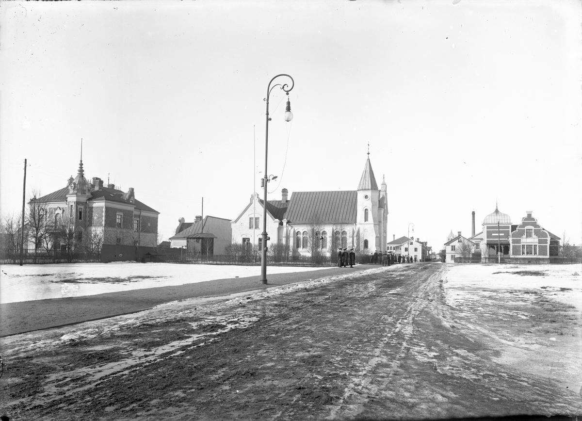 Glasgatan från Järnvägsgatan mot Norr.