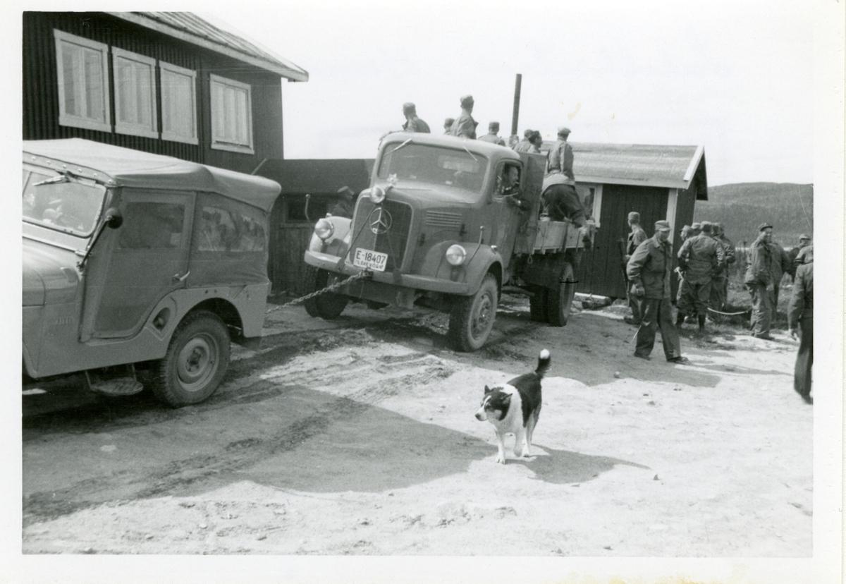 Heimevernsøvelse ved Søbekkseter, ca 1965.
