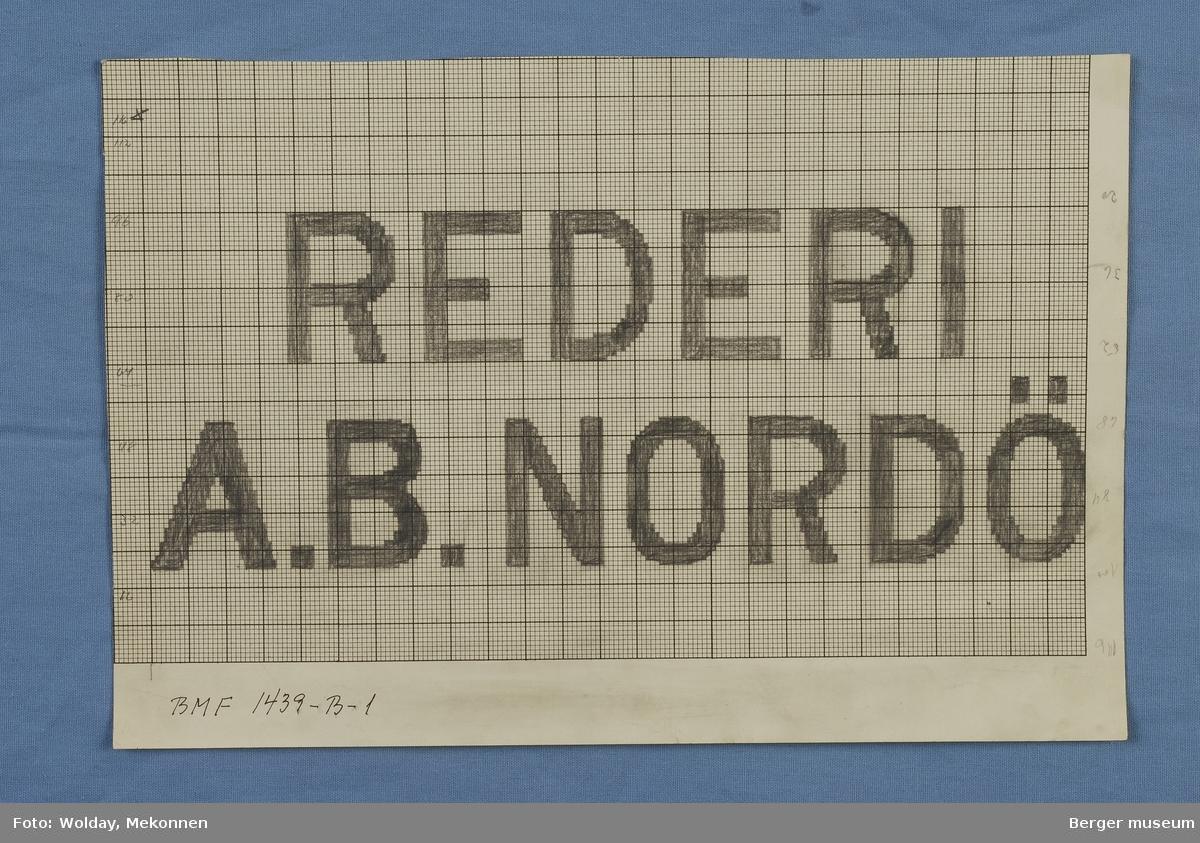 """REDERI A.B. NORDÖ"""