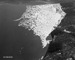 Flyfotografi, tatt over stopplensa i nordenden av Sennsjøen,