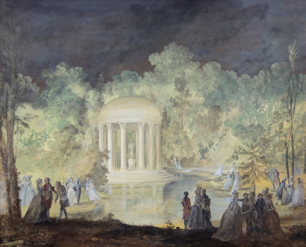 Hovfest i Trianons park, 1784 [Gouache]
