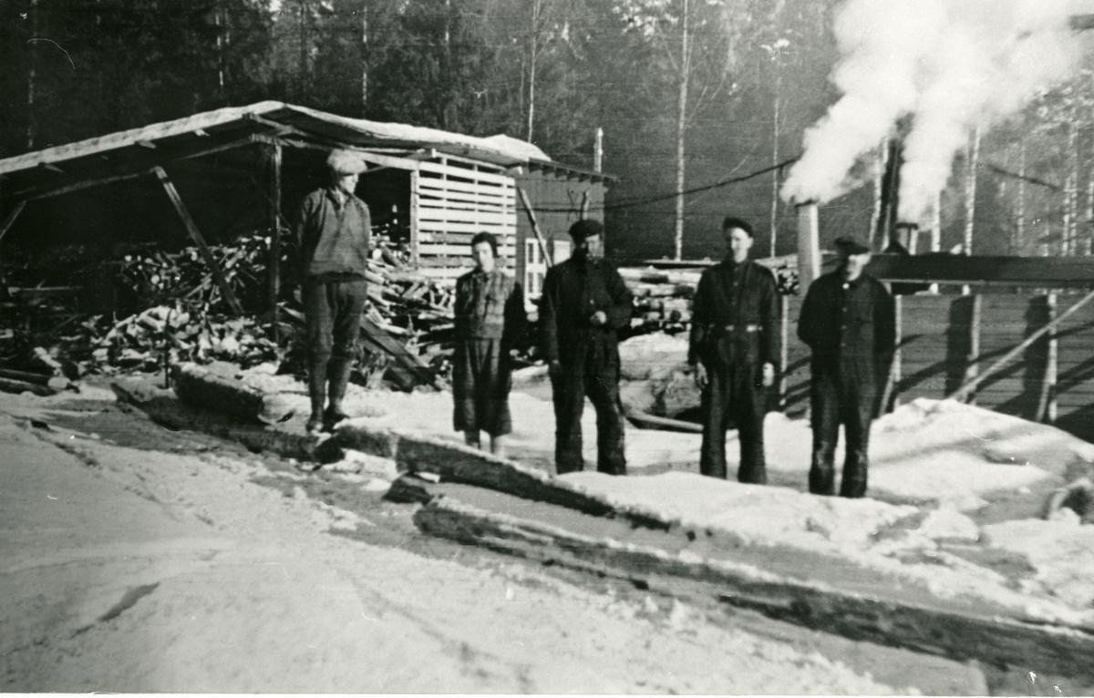 Kolbrenning på Piltingsrud i krigsåra 1940-45.