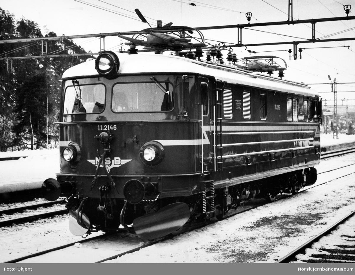 Elektrisk lokomotiv El 11 2146 som nytt