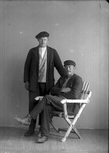 Teodor Nydén från Visingsö och okänd man.