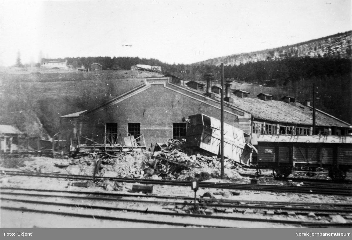 Dombås stasjon etter felttoget