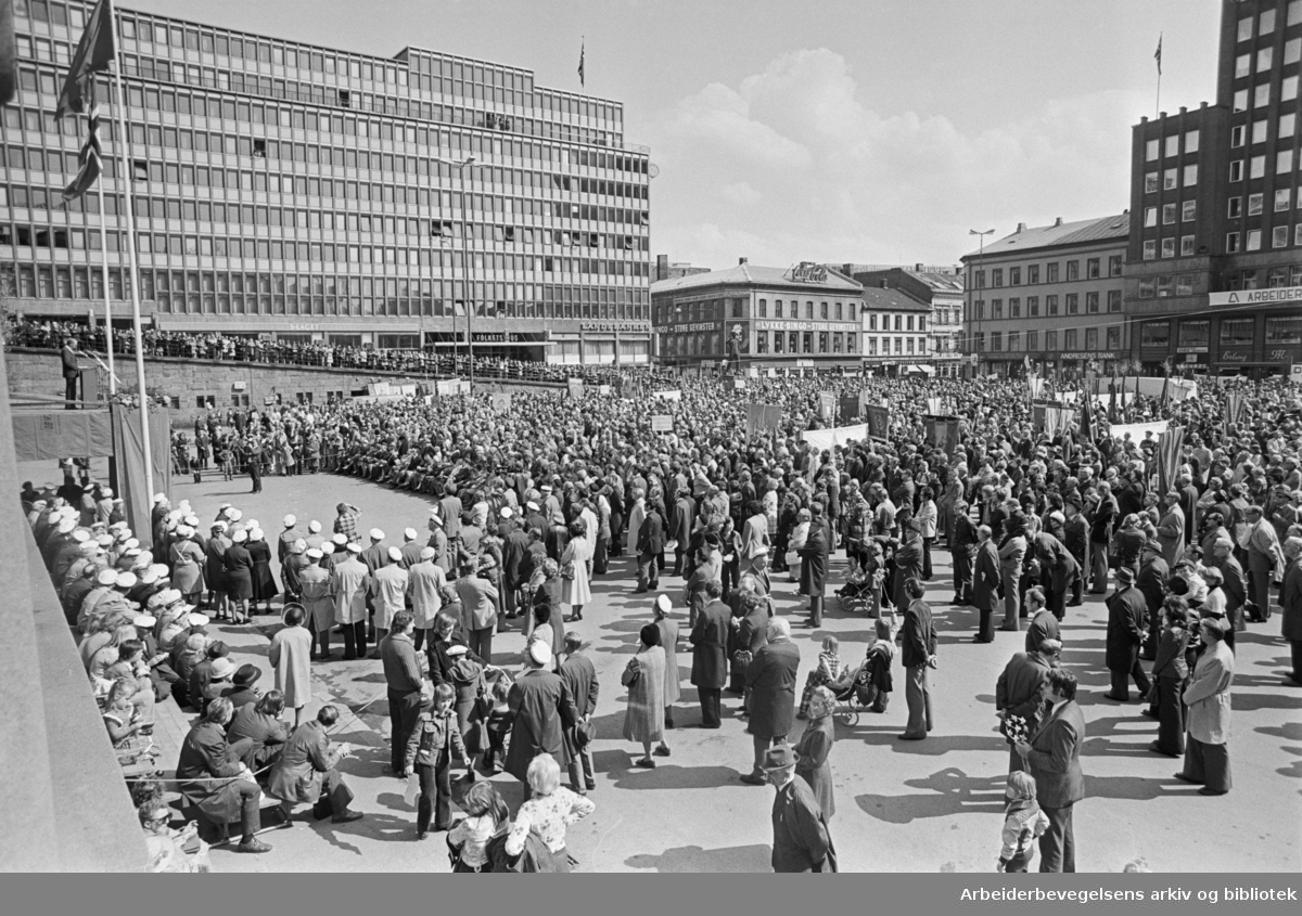 1. mai 1977, Youngstorget.