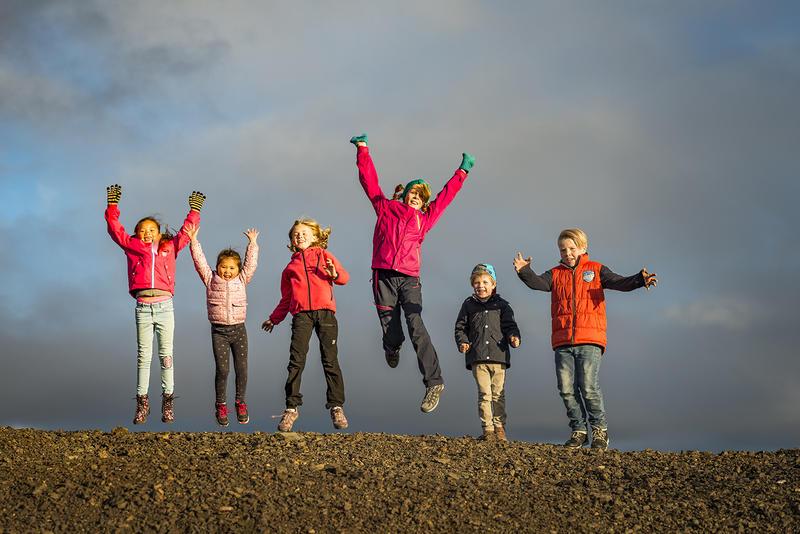 Barn på Slegghauan