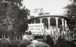 Arbeiderungdommens dag 1938. Markering i Birkelunden på Grün