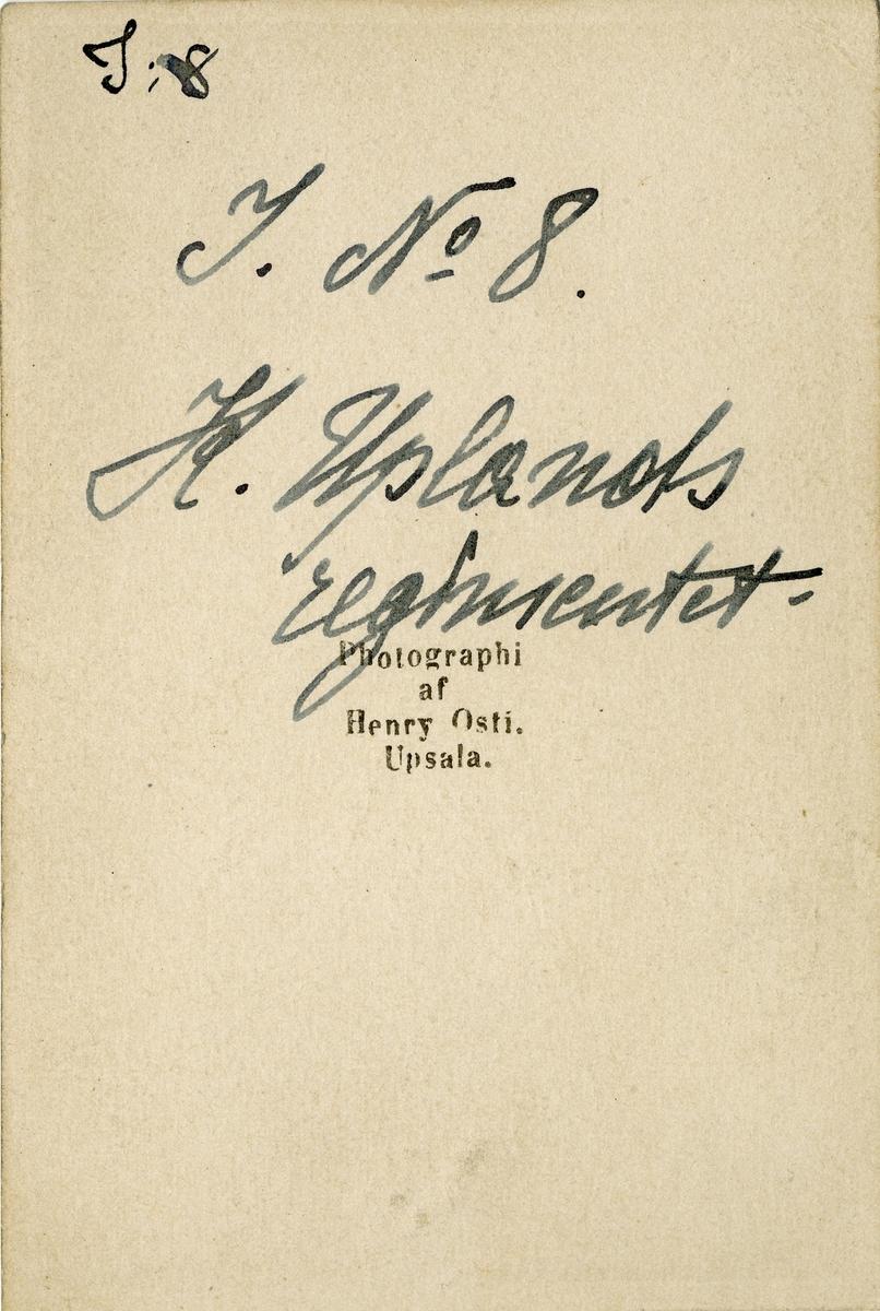 Porträtt av okänd soldat vid Upplands regemente I 8.