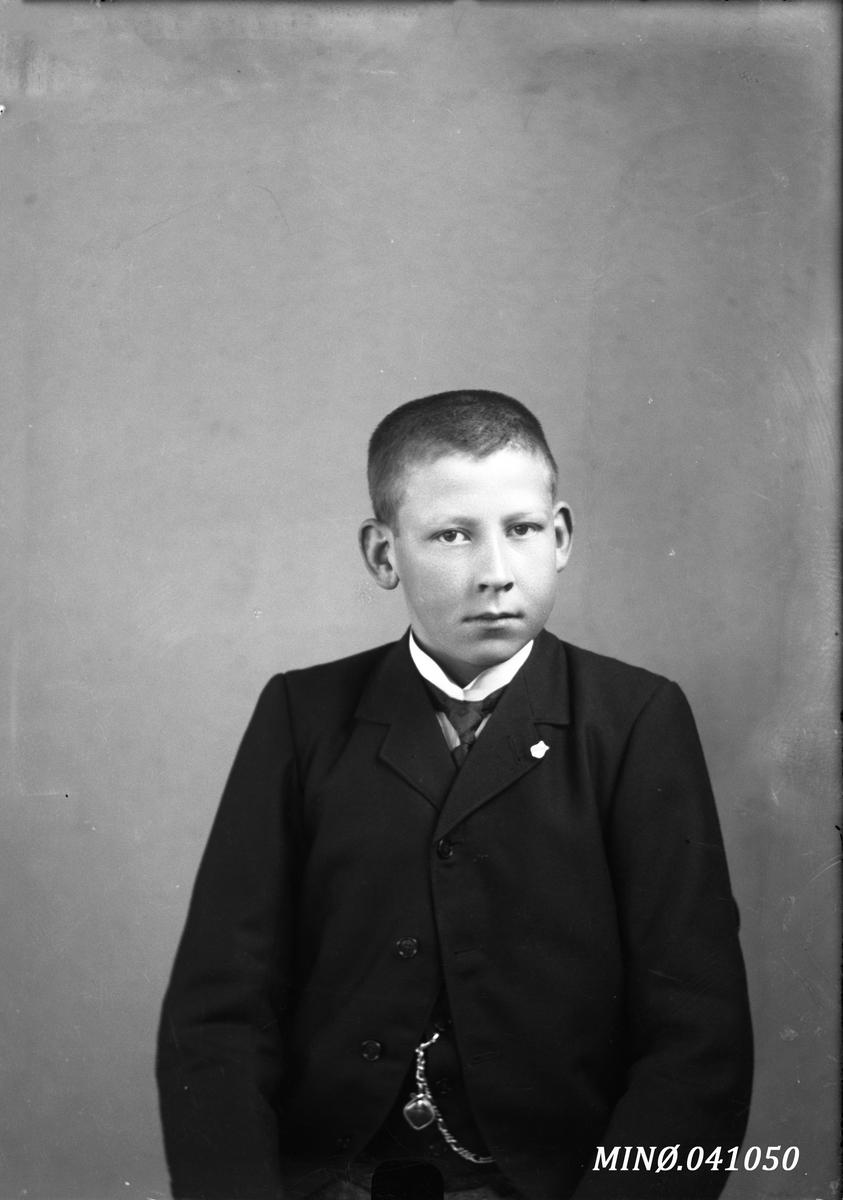 Portrett av ung mann - Karl Lindgren