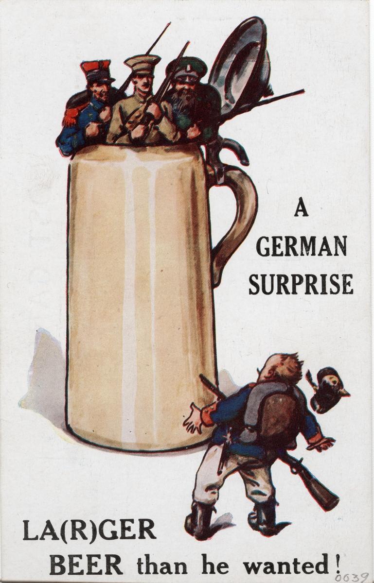 Brittisk propagandabild från första världskriget.