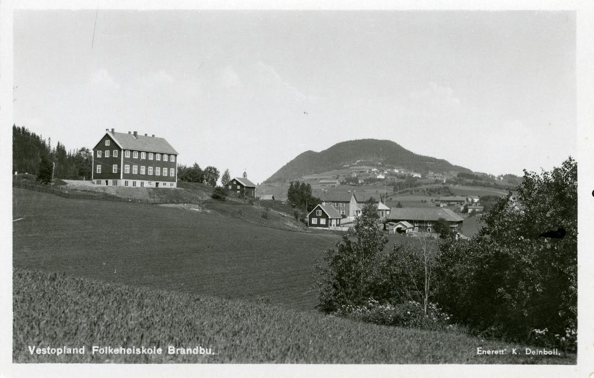 Prospektkort av Vestoppland Folkehøgskule, Brandbu.
