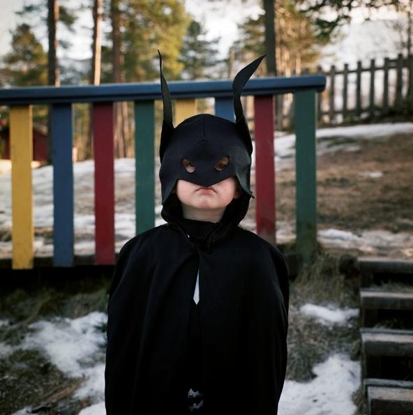 Ask «Batman» Bahne Gjesdal, Karneval i Langhaugane barnehage, 15. februar [Fotografi]