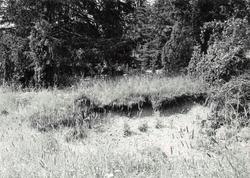 Domarring vid södra  sidan av Uknadalen. Stensättning är de
