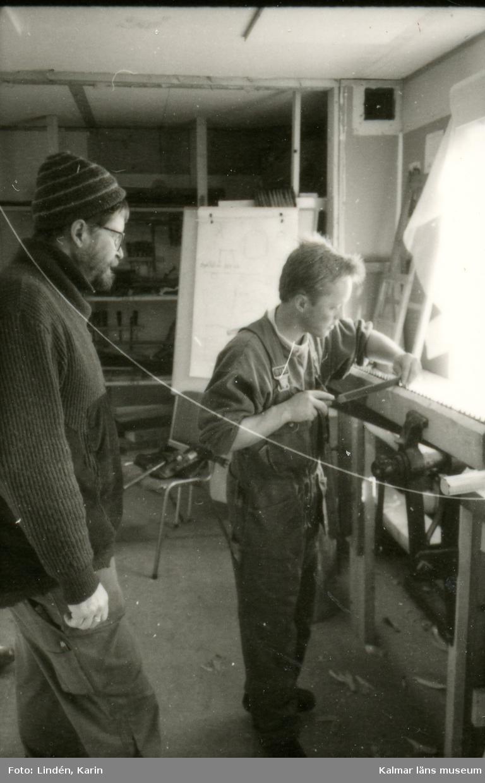 Foto:Karin Lindén, arkitekt, mars 1995. Sågtandskränkning.