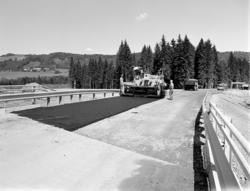 E6, anleggsarbeid,  Rudshøgda, vegutbygging, asfaltarbeid.