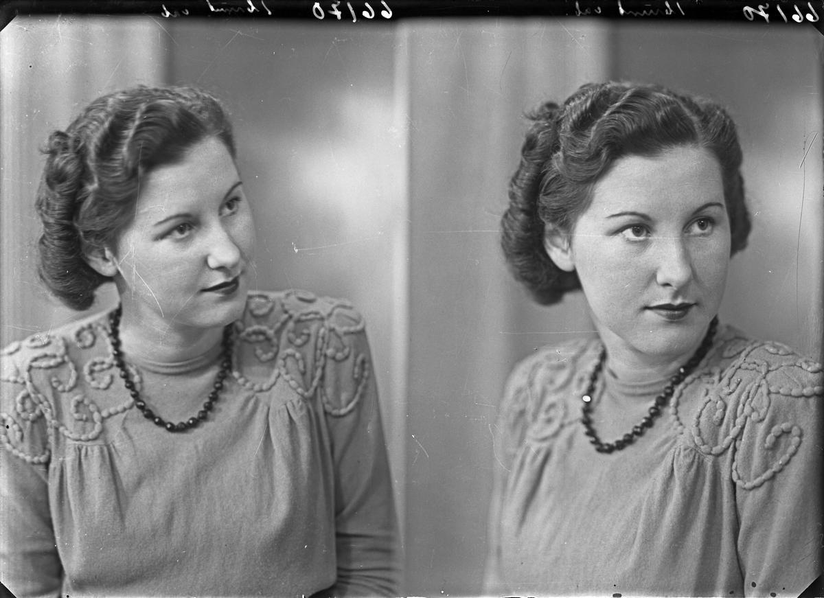 Portrett. Ung kvinne. Bestillt av Solveig Iversen. Fløtmansgt. 7