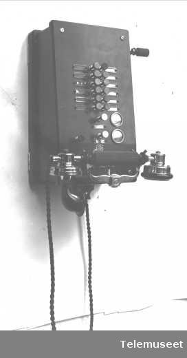 Telefon, lokaltelefonapparat, Duplex for 12 lokallj. og 2 sentrallj. jan 1917. Elektrisk Bureau.