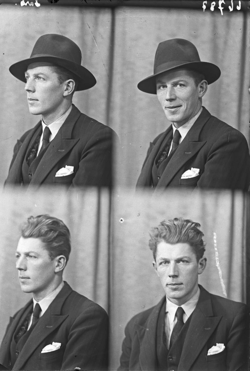 Portrett. Ung mann. Bestillt av Johan Ringen. Kong Sverresgt. 21.