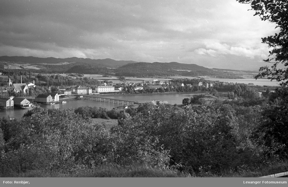 Utsikt over Levangersundet fra Nesset.
