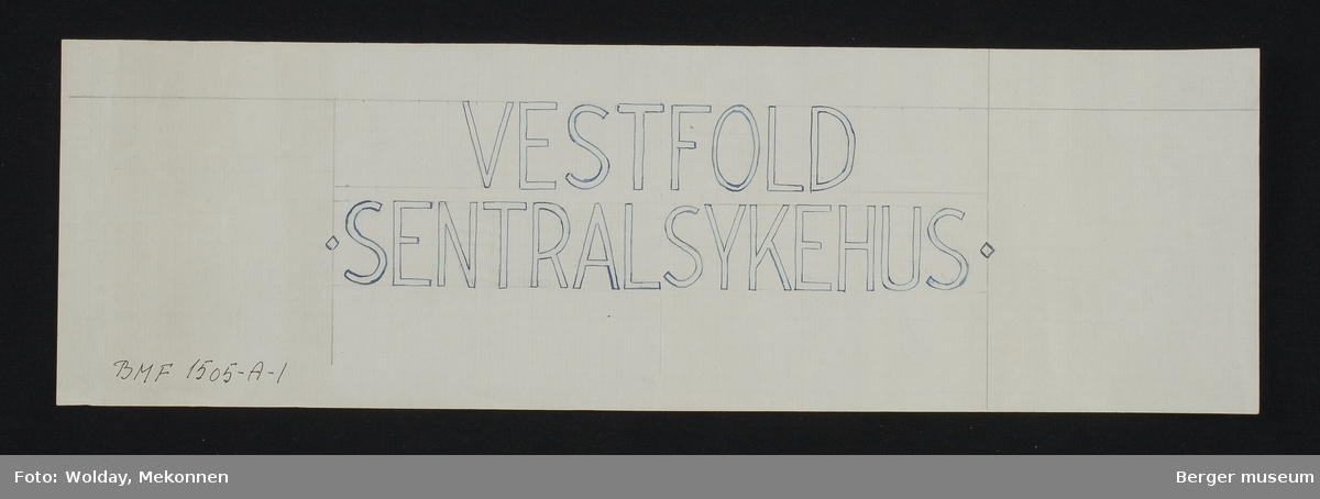 VESTFOLD SENTRALSYKEHUS