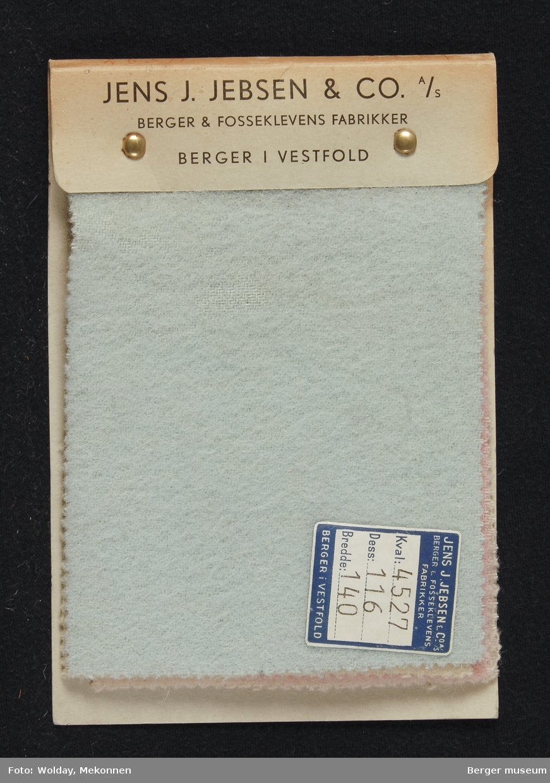 Prøvebok med 4 prøver Vårkåpetøy Stykkfarget Kval. 4527