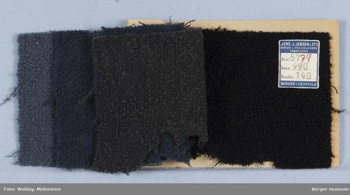 Prøvehefte med 4 prøver Kåpe Kvalitet 5779 Stykkfarget