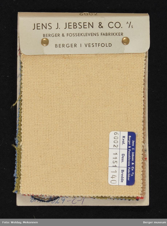 Prøvehefte med 6 prøver Jakke Tweed Kvalitet 6002 Stykkfarget