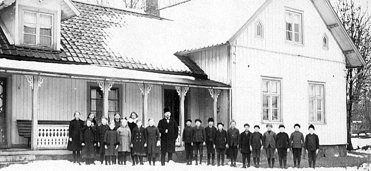 Bildtext: Västergötland.  Acklinga sn.  Folkskolan.