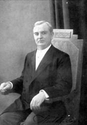 Johannes Alfred Hultman. Född 1861 Död 1942. Predikant och s