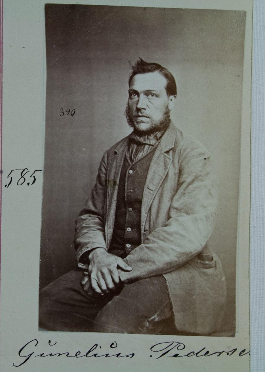 Fangeportrett, Gunelius Pedersen