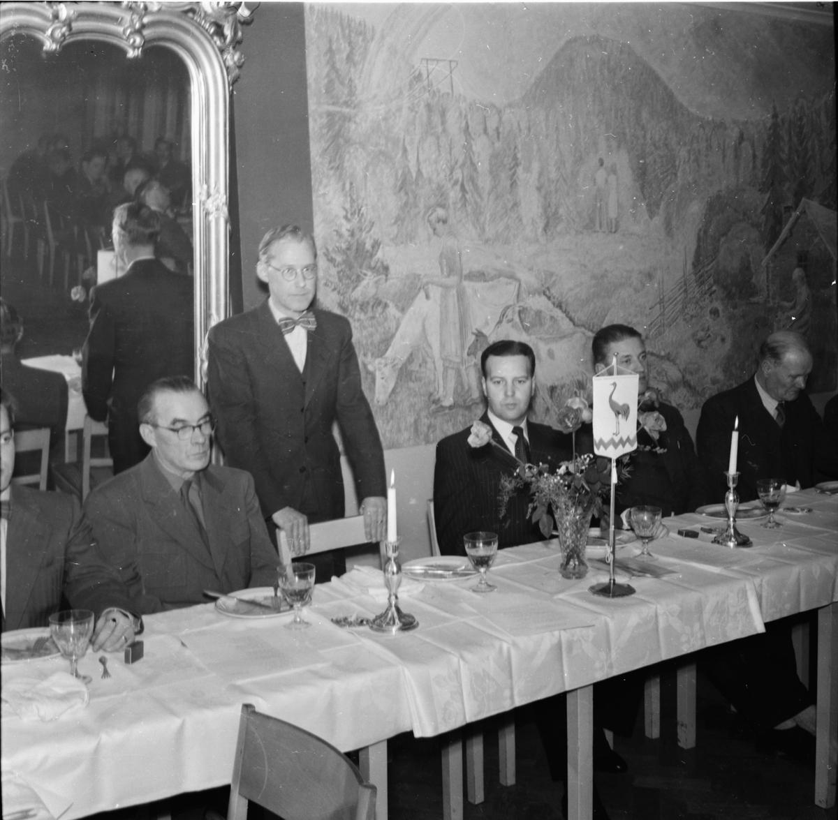 Taklagsfest på restaurang Rehngården. Bollnäs