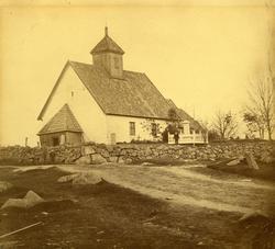 Glemmen gamle kirke (Gamle Glemmen kirke), eksteriør, antake