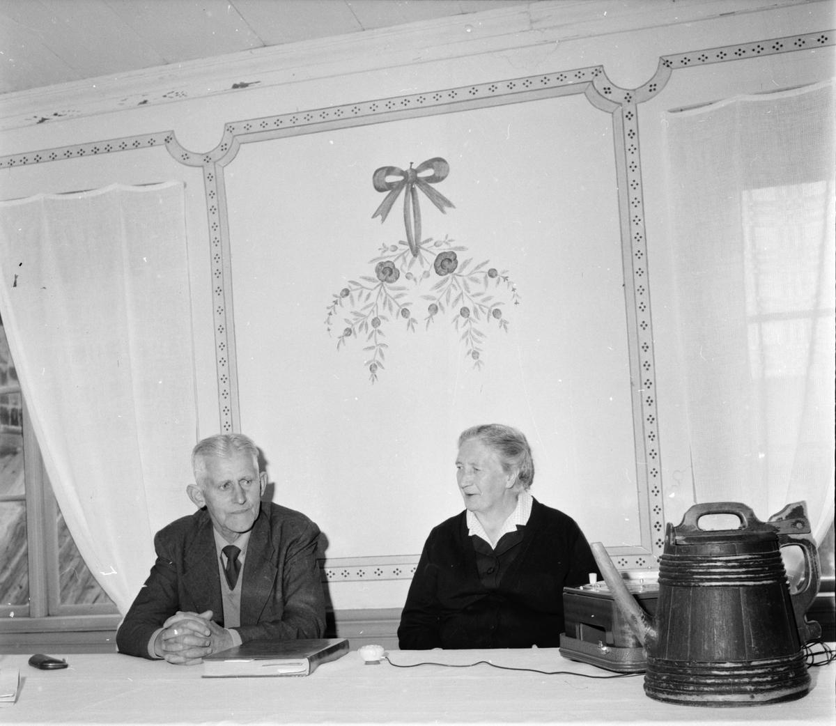 Järvsö, Karlsgården, Inspelning av fru Creutz, 8 Augusti 1962