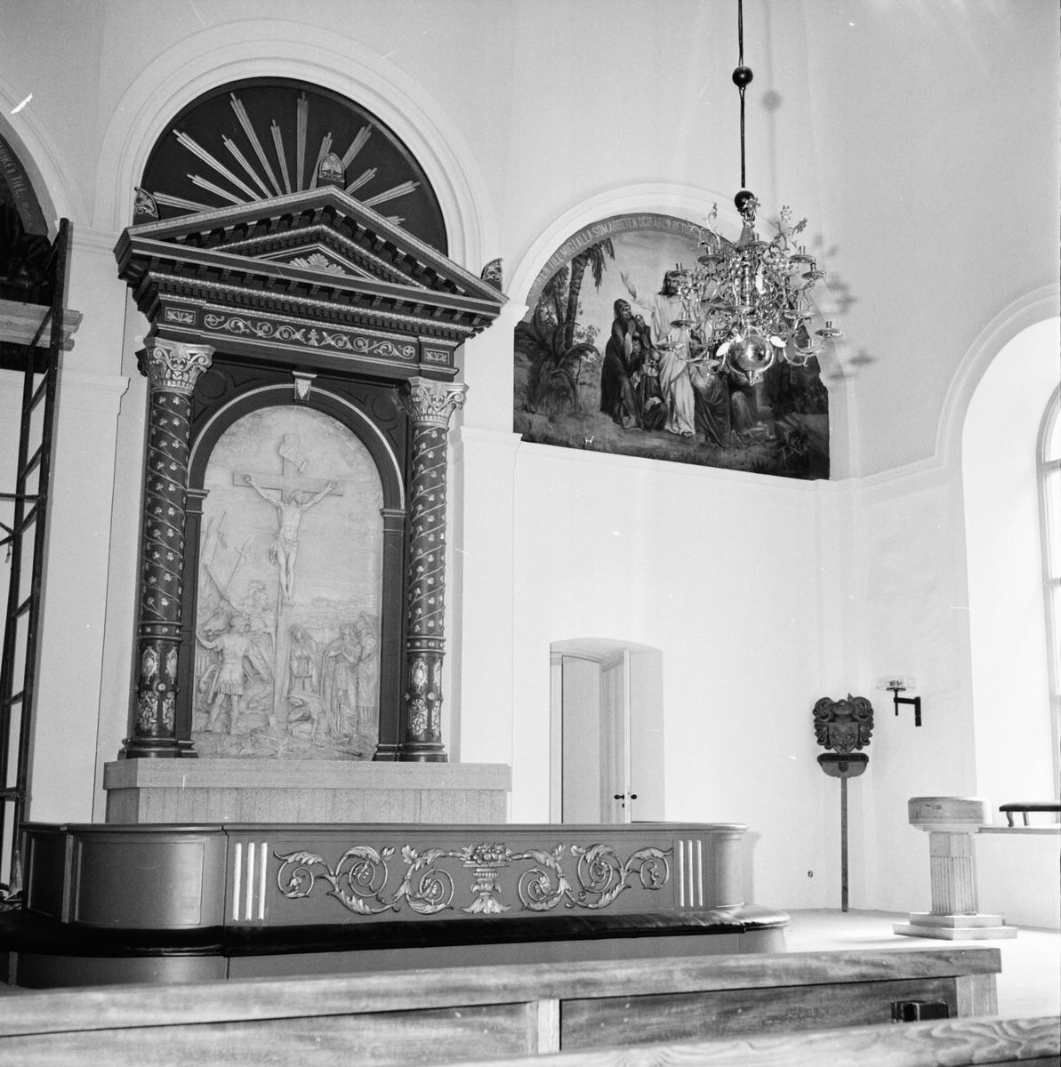 Ovanåker, Reportage från kyrkorestaureringen, 16 Juni 1965