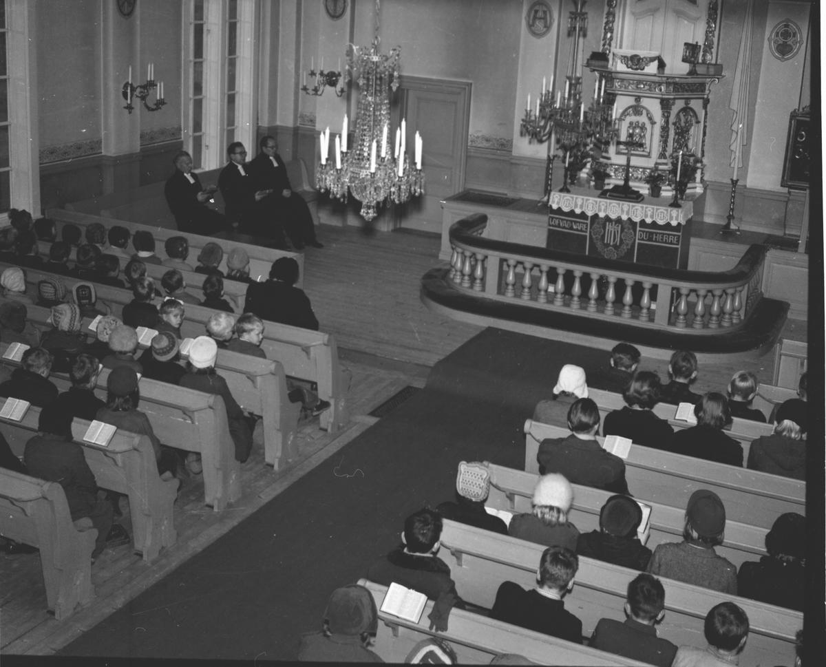 Prostvisitation. Pontén,Humble, Wallén,Broman. Lingbo Nov. 1953