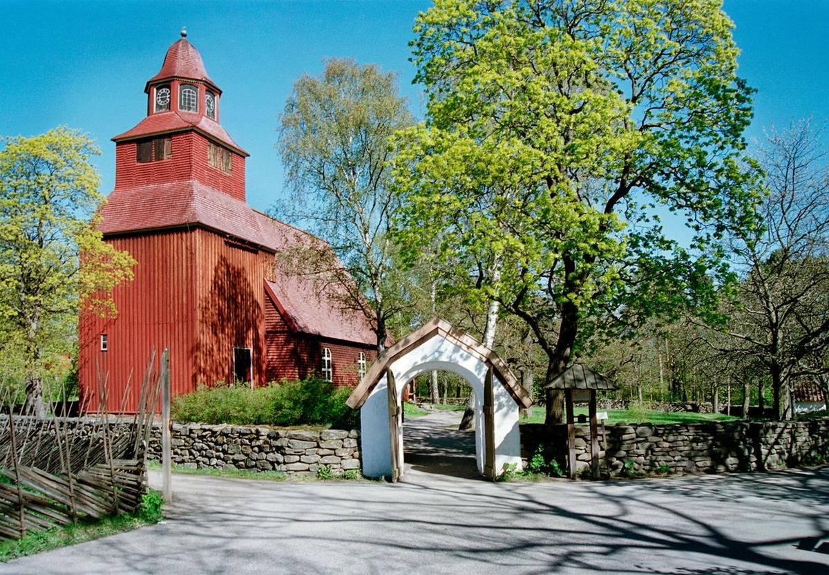 Ljudinspelning av klockorna i Seglora kyrka på Skansen.