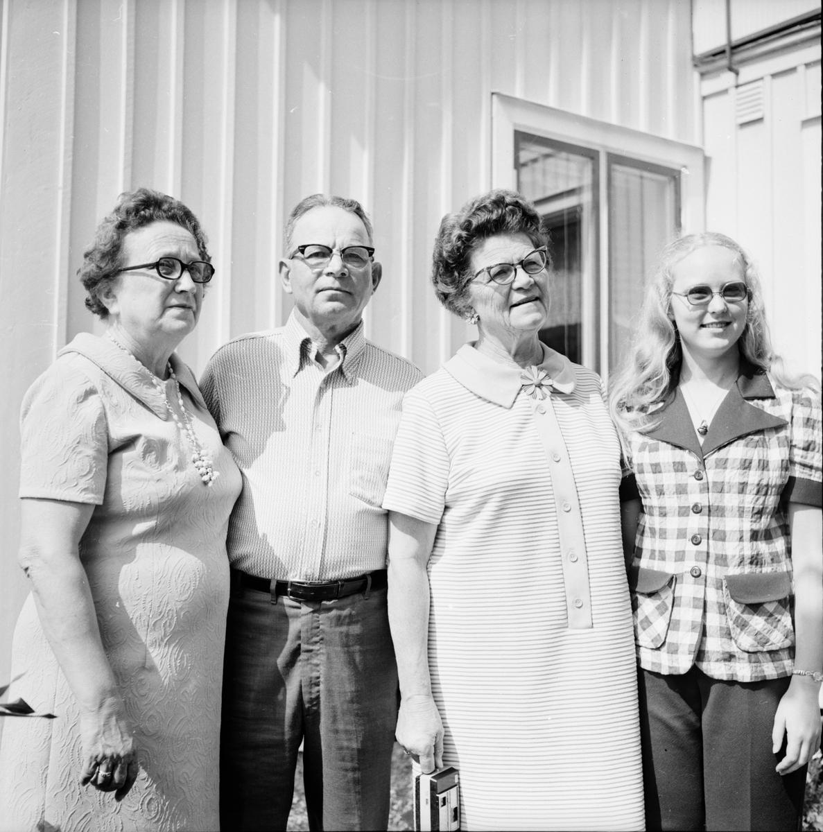 Engwalls i Spicer USA på besök Bollnäs Juli 1973