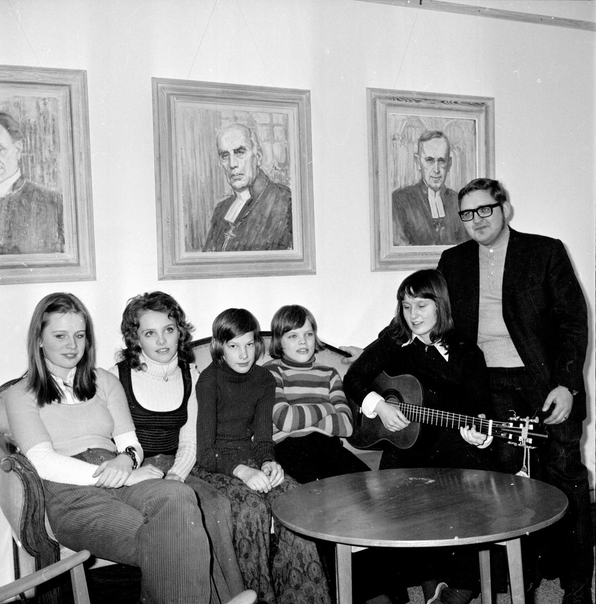 Stiftsgården, Konfirmander på träff, Febr 1972