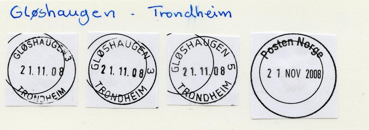 Stempelkatalog  Gløshaugen Trondheim, Trondheim kommune, Sør-Trøndelag