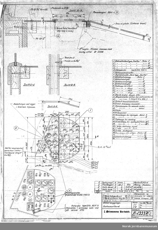 Diesel-boggivogn - instrumentbord