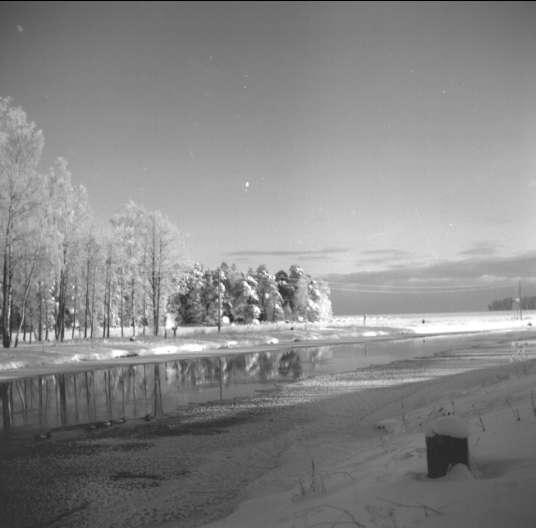 Vinterbild från Karlsborg, januari 1963. Endast neg finns.