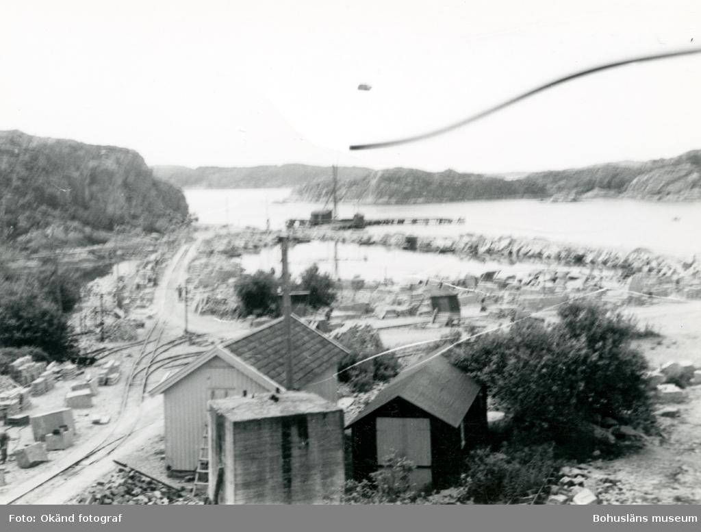 Vy över stenhuggeriet på Rixö