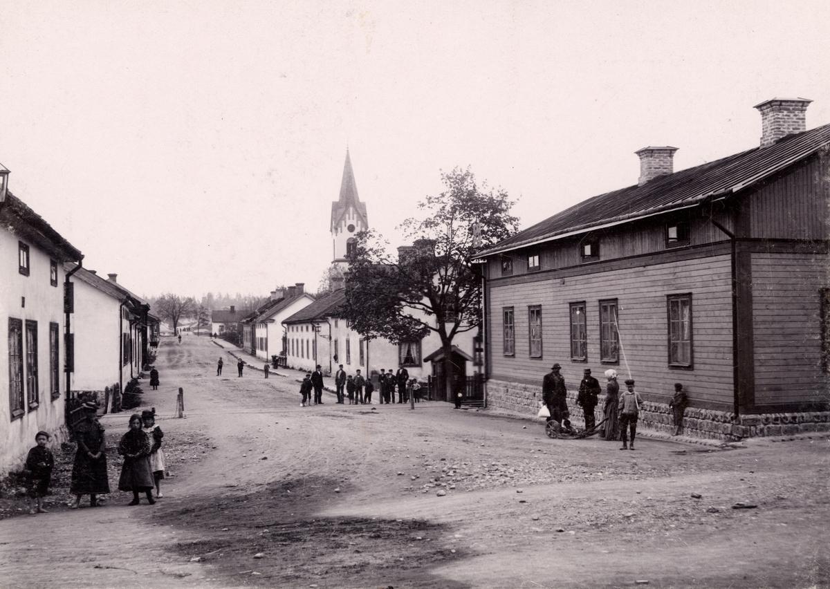 Gata i Avesta omkring den 20 november 1900.