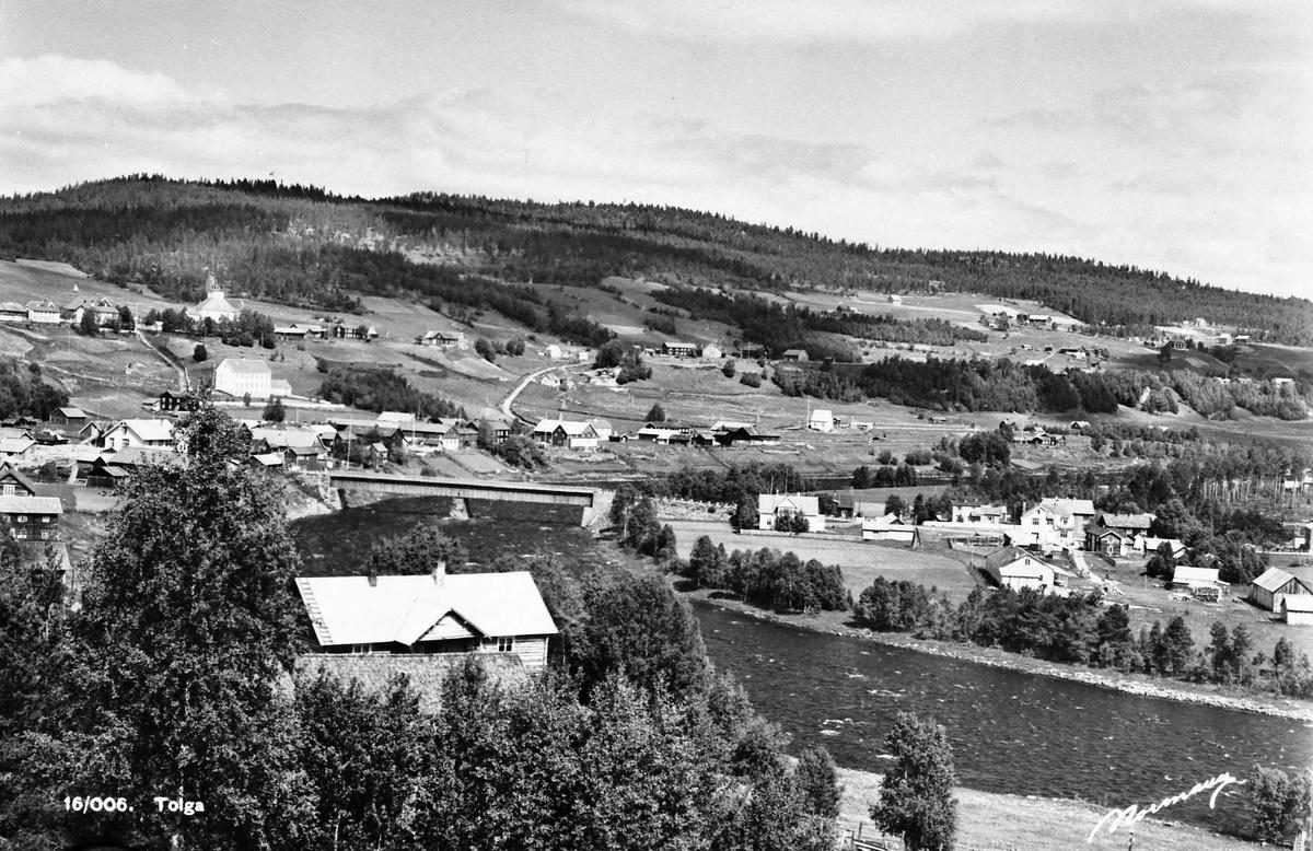 Bebyggelse, Kulturlandskap. I forgrunn Gjelten. Bilde tatt fra Røsebygda opp for Berget.