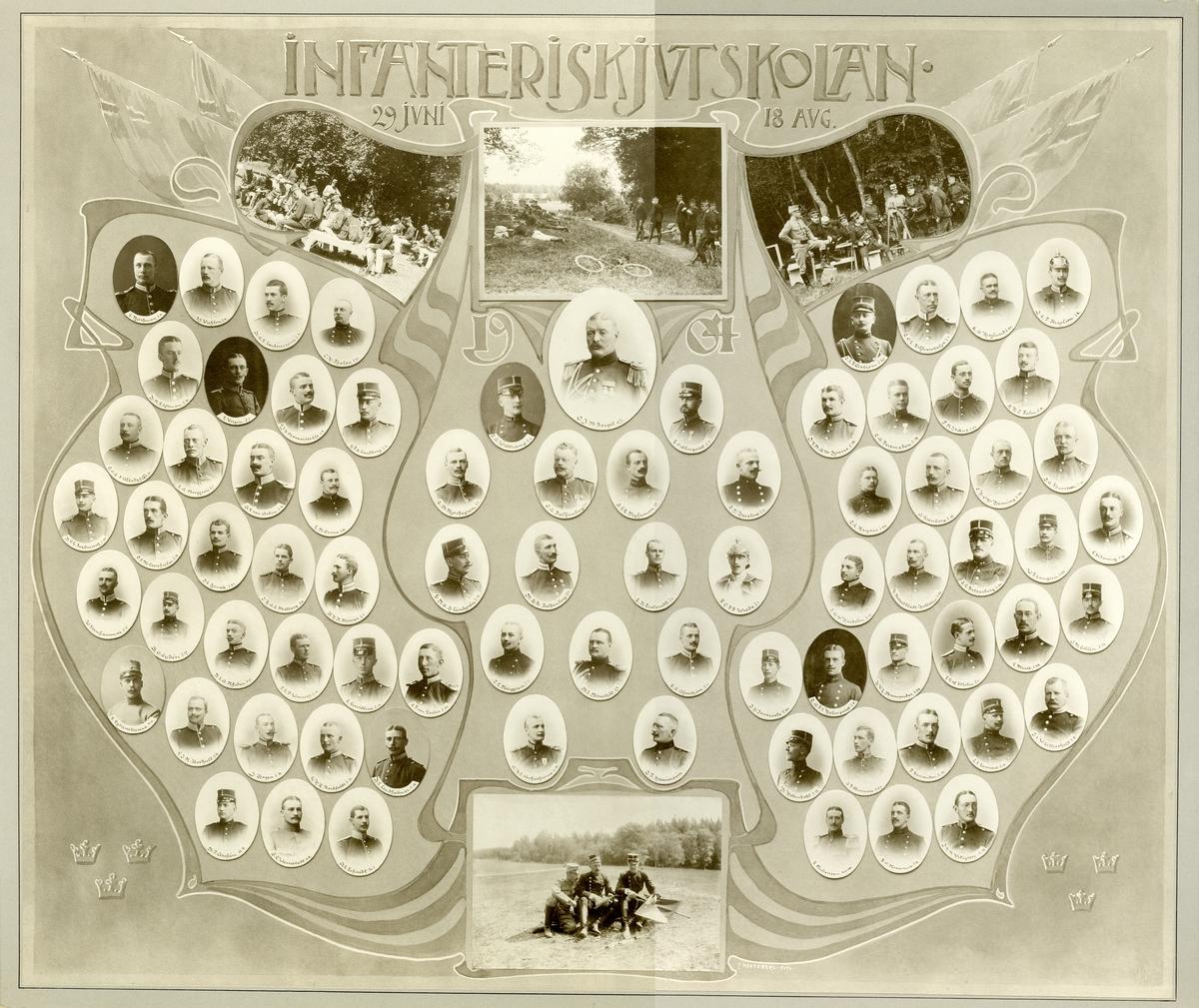 Officerare vid Infanteriskjutskolan 29 juni- 18 Augusti 1904.