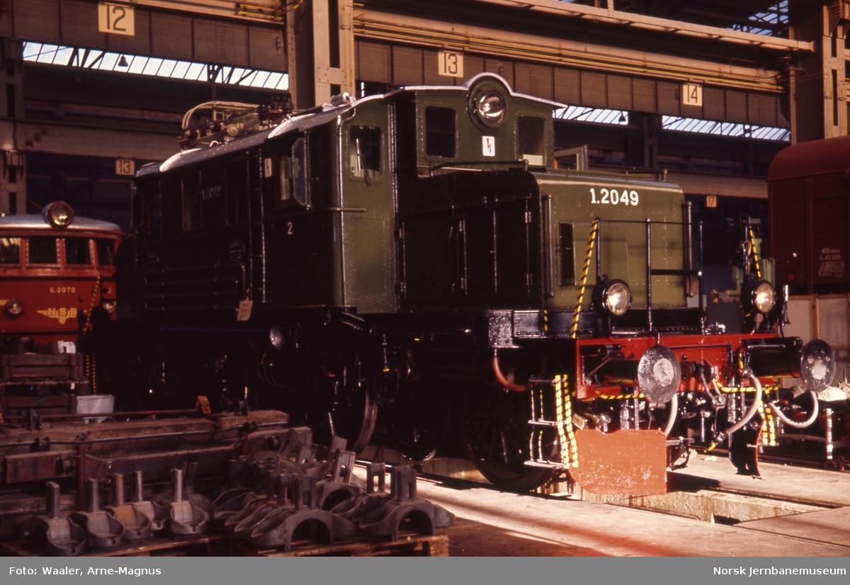 Elektrisk lokomotiv El 1 2049 etter revisjon, foto på Verkstedet Grorud
