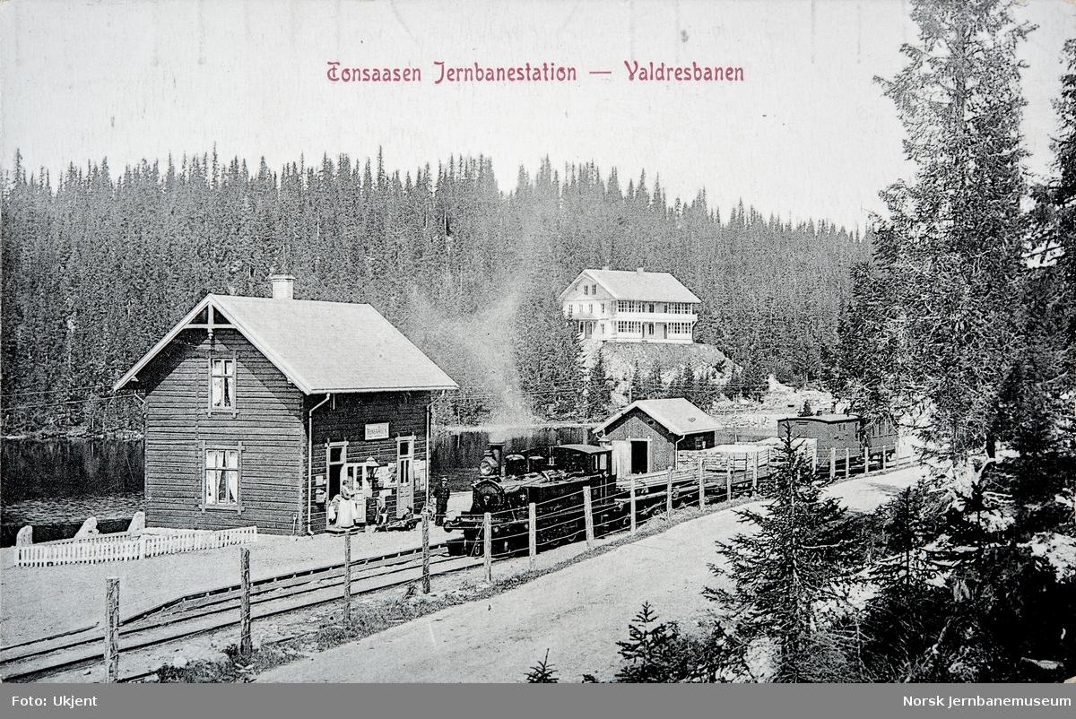 Tonsåsen stasjon med blandet tog