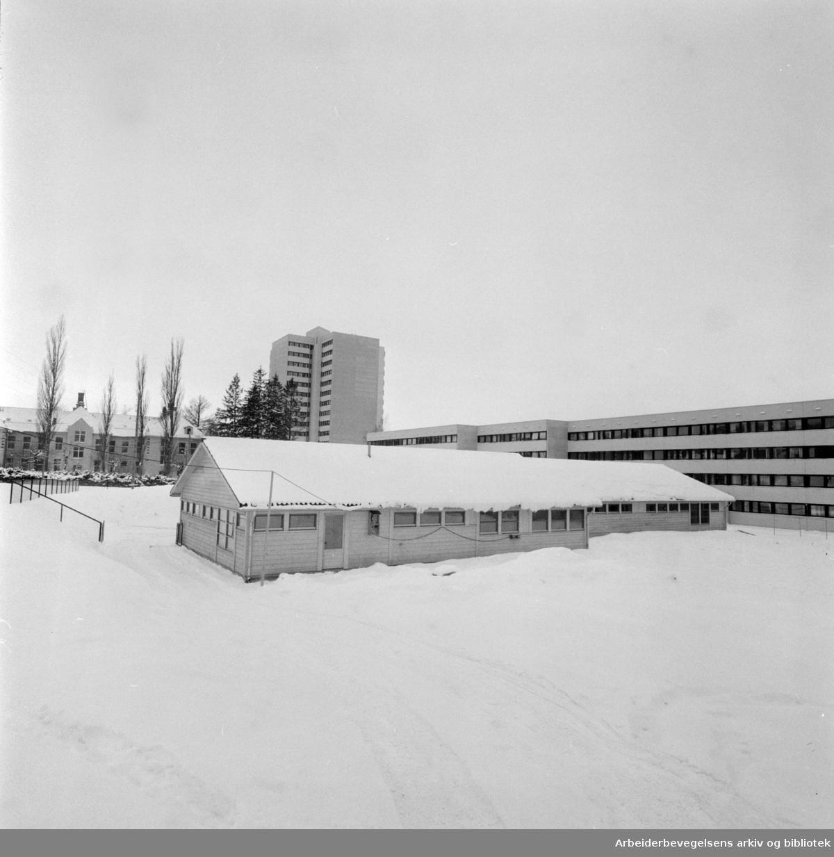 Trosterud. Stubberudlia barnehage. Februar 1976