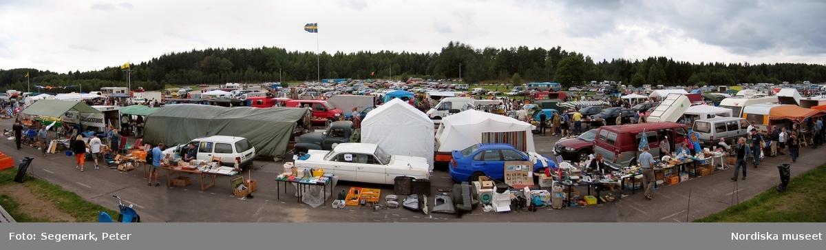Marknad i Tullinge, panorama.